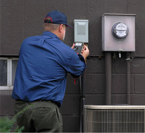 Photo of technician doing HVAC Repairs in Framingham MA