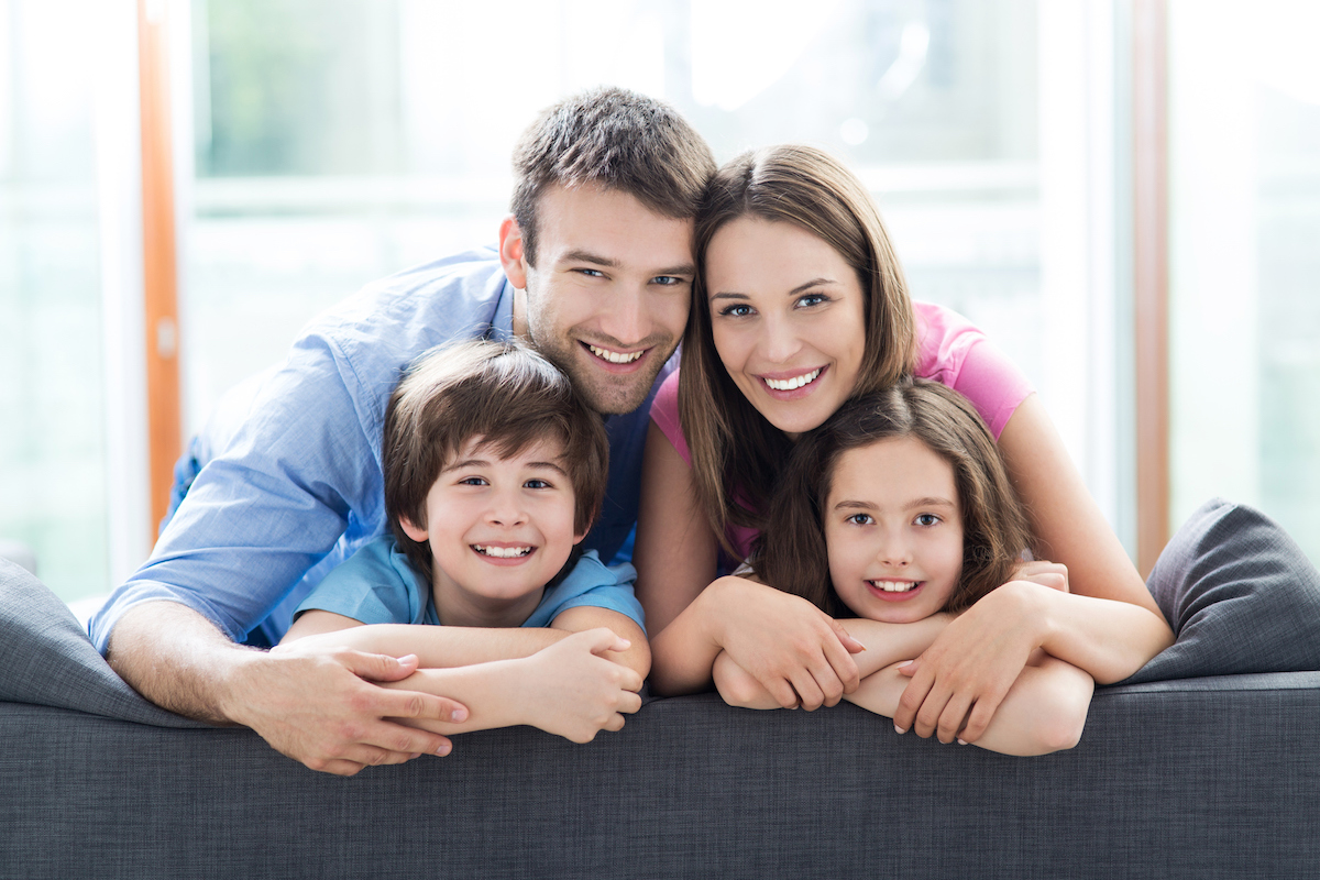 photo of a Wayland family comfortable in their home with AC