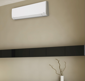 interior view of a Fujitsu Ductless Mini Split System in a home